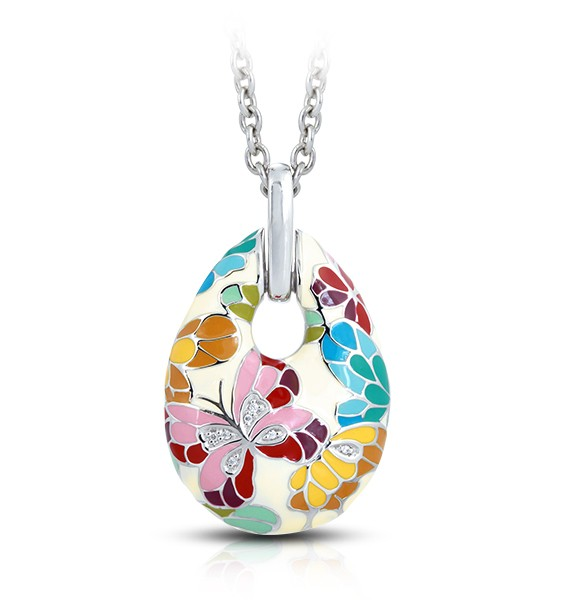 Belle Etoile - butterfly_kisses_ivory_pendant.jpg - brand name designer jewelry in Palmyra, New Jersey
