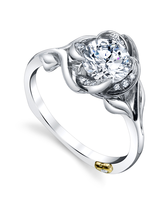 Diamond Semi-Mount Ring by Mark Schneider