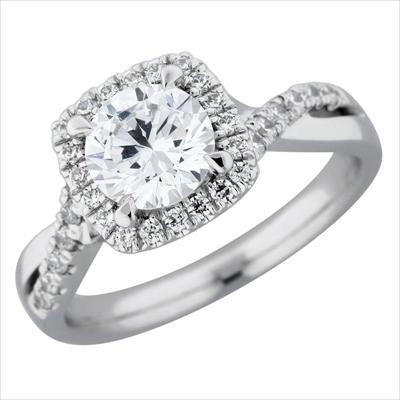 Diamond Semi-Mount Ring by Anthony