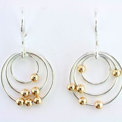 Sterling Silver Earrings by Tom Kruskal